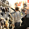 Beck Diefenbach  -  bdiefenbach@daily-chronicle.com<br /> <br /> Jessica Pfund, of Sycamore, checks out shoes while shopping in the rebuilt Target Store in DeKalb, Ill., on Tuesday Oct. 6, 2009.