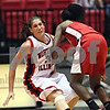 Beck Diefenbach  -  bdiefenbach@daily-chronicle.com<br /> <br /> Northern Illinois forward Beck Smith (34) and Ball State guard Porchia Green (3) collied during the first half of the game at the NIU Convocation Center in DeKalb, Ill., on Wednesday Jan. 21, 2009.