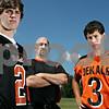 Rob Winner – rwinner@daily-chronicle.com<br /> Jake, 16, Dan and Evan, 15, Jones of DeKalb football.<br /> 08/12/2009<br /> From left