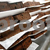 Beck Diefenbach  -  bdiefenbach@daily-chronicle.com<br /> <br /> 6900 brownie slices wait to be packaged at Baker's Buddy to be sold in the Neighborhood Bakery in DeKalb, Ill., on Tuesday Jan. 27, 2009. Owner John Henner has halted baking with peanut butter, even though he doesn't sell any products with raw peanut butter and salmonella is even killed in the oven process.