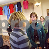 "Beck Diefenbach  -  bdiefenbach@daily-chronicle.com<br /> <br /> Safe Passage members Terry (would not give last name), center, and Marlee Piskorowski, right, talk during the ""A Community United"" event against sexual violence at First Congregational United Church in DeKalb, Ill., on Monday April 6, 2009. The event was hosted by Safe Passage in observance of Sexual Assault Awareness Month."