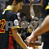 Beck Diefenbach  -  bdiefenbach@daily-chronicle.com<br /> <br /> DeKalb guard Darius McNeal (11) celebrates after beating Batavia 46 to 34, at DeKalb High School in DeKalb, Ill., on Wednesday Jan. 14, 2008.