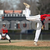 Beck Diefenbach  -  bdiefenbach@daily-chronicle.com<br /> <br /> Batavia pitcher Adam Karger (19) watches his pitch during the first inning of the game against DeKalb at DeKalb High School in DeKalb, Ill., on Wednesday April 15, 2009.
