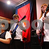 "Beck Diefenbach  -  bdiefenbach@daily-chronicle.com<br /> <br /> From left, singer Grace Cho, 6, Ethan Hansen, 12, and Allie Halberson, 12, play during band practice for ""The Reborn"" at the Salvation Army in DeKalb, Ill., on Wednesday Sept. 23, 2009."