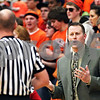 Beck Diefenbach  -  bdiefenbach@daily-chronicle.com<br /> <br /> DeKalb head coach Dave Rohlman exchanges words with the referee during the first quarter of the game against Kaneland at Kaneland High School in Maple Park, Ill., on Friday Jan. 23, 2009.