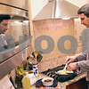 Beck Diefenbach  -  bdiefenbach@daily-chronicle.com<br /> <br /> David Goldblum, of Sycamore, prepares  vegetarian black bean and corn quesadillas for dinner at his family's Sycamore home on Tuesday Nov. 17, 2009. Goldblum has raised their children to be vegetarians as well.