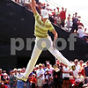 Beck Diefenbach  -  bdiefenbach@daily-chronicle.com<br /> <br /> Europe's Diana Luna celebrates after winning her match with Catriona Matthew (not pictured) against team USA at the Solheim Cup in Sugar Grove, Ill., on Saturday Aug. 22, 2009.