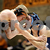 Rob Winner – rwinner@daily-chronicle.com<br /> DeKalb's Jake Sommer (left) and Prospect's Harry Hamilton compete during their 135-pound match at the Don Flavin Wrestling Tournament in DeKalb, Ill. on Tuesday December 29, 2009.