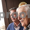 Beck Diefenbach  -  bdiefenbach@daily-chronicle.com<br /> <br /> Senior mentor Don Overbey, center, and Rev. Paul Milbrandt pose outside of Paul's home in DeKalb, Ill., on Friday Nov. 13, 2009.
