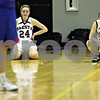 Beck Diefenbach – bdiefenbach@daily-chronicle.com<br /> <br /> Dakota forward Alexys Cleaver (24) and guard Erika Lawson (30) react to their inevitable loss to Hinckley-Big Rock during the final seconds of the fourth quarter of the 1A Super Sectional game at Elgin Community College in Elgin, Ill., on Monday Feb. 23, 2009.