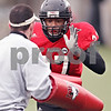 Beck Diefenbach  -  bdiefenbach@daily-chronicle.com<br /> <br /> Northern Illinois linebacker Alex Lube (37) during practice at Huskie Stadium in DeKalb, Ill., on Tuesday April 14, 2009.