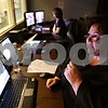 Rob Winner – rwinner@daily-chronicle.com<br /> <br /> In another room while the nursing students diagnose Maribel, M.S.,A.P.N. Catherine Maney uses a microphone to be the voice of Maribel.<br /> <br /> 10/16/2009
