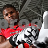 Rob Winner – rwinner@daily-chronicle.com<br /> Landon Cox WR<br /> NIU Football<br /> 08/07/2009