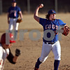 Beck Diefenbach  -  bdiefenbach@daily-chronicle.com<br /> <br /> Genoa Kingston pitcher Taylor Rogers(24) throws to first base for the out during the top of the fifth inning against Indian Creek High School at GK High School in Genoa, Ill., on Wednesday March 18, 2009.