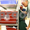 Beck Diefenbach  -  bdiefenbach@daily-chronicle.com<br /> <br /> Don Boyd (far right), of Sycamore, and Jim Olesen, of DeKalb, collect paper for recycling while volunteering at Kishwaukee Hospital in DeKalb, Ill., on Monday Oct. 12, 2009. Boyd and Olesen both began volunteering at the hospital after they lost their jobs.
