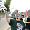 "Beck Diefenbach  -  bdiefenbach@daily-chronicle.com<br /> <br /> Nursing home cook Vicki Zink, of Sycamore chants for a ""fair contract"" outside the DeKalb County Nursing Home in DeKalb, Ill., on Monday June 15, 2009. ""Just trying to make ends meet,"" Zink said."