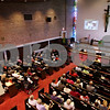 Beck Diefenbach  -  bdiefenbach@daily-chronicle.com<br /> <br /> The Bethlehem Evangelical Lutheran Church congregation celebrates the 40th anniversary of their current building at their DeKalb church on Wednesday July 22, 2009.
