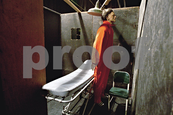 Rob Winner – rwinner@daily-chronicle.com<br /> <br /> One of the completed rooms at the Amenti Haunted House inside the Egyptian Theatre in DeKalb, Ill.<br /> <br /> 10/19/2009