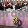 Beck Diefenbach  -  bdiefenbach@daily-chronicle.com<br /> <br /> People watch the presentation of the memorial wreaths on the campus of Northern Illinois University in DeKalb, Ill., on Saturday Feb. 14, 2009.