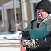 Beck Diefenbach  -  bdiefenbach@daily-chronicle.com<br /> <br /> Volunteer Ed Pevonka waits in below freezing temperatures for signatures for his petition to add independent mayoral candidate Lynn Fazekas to the April ballot on the corner of 3rd Street and Lincoln Highway in DeKalb, Ill., on Friday Jan. 16, 2009.