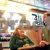 Beck Diefenbach  -  bdiefenbach@daily-chronicle.com<br /> <br /> Daryl, left, and her husband Ken Hopper relax in the lobby of their State Theater in Sycamore, Ill., on Wednesday Dec. 23, 2009.