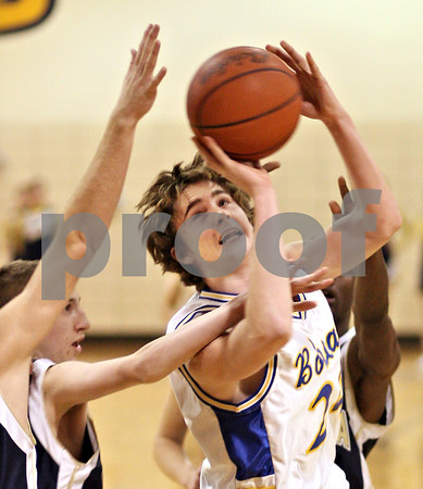 Beck Diefenbach  -  bdiefenbach@daily-chronicle.com<br /> <br /> Somonauk's Mitch Fox (24) shoots the ball during the fourth quarter of the game against Hiawatha at somonauk High School in Somonauk, Ill., on Friday Dec. 4, 2009.