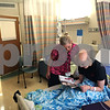 Beck Diefenbach  -  bdiefenbach@daily-chronicle.com<br /> <br /> Grace Waller, right, and her nurse Amy Ducharme look through a celebrity magazine as Waller is under observation following another round of chemotherapy at Rush Medical Hospital in Chicago on Saturday July 18, 2009.