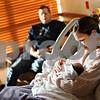 Beck Diefenbach  -  bdiefenbach@daily-chronicle.com<br /> <br /> Joni Watson, of Kirkland, looks over her new baby boy, Brock, at Kishwuakee Community Hospital in DeKalb, Ill., on Friday Nov. 20, 2009. Watson gave birth to Brock on Wednesday Nov. 18.