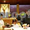Beck Diefenbach  -  bdiefenbach@daily-chronicle.com<br /> <br /> From left, Marco Rodriquez, 10, of Genoa, and Sebastian Acevedo, 8, of Genoa, watch as Seminarian Juan Ayala  leads a class for new alter servers at St. Catherine's of Genoa Church on Wednesday June 17, 2009.