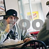 Beck Diefenbach  -  bdiefenbach@daily-chronicle.com<br /> <br /> Northern Illinois University student Logan Pegram enjoys a late lunch at Shelley's Restaurant at 901 Lucinda Ave. in DeKalb, Ill., on Friday Jan. 20, 2009.