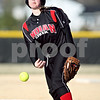 Beck Diefenbach  -  bdiefenbach@daily-chronicle.com<br /> <br /> Indian Creek pitcher Sarah Chapman releases the ball during the top of the 2nd inning against Somonauk at Indian Creek High School in Shabbona, Ill., on Friday April 3, 2009.