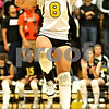 Beck Diefenbach  -  bdiefenbach@daily-chronicle.com<br /> <br /> Sycamore Justine Schepler (8) celebrates during the first period of the game against DeKalb at Sycamore High School in Sycamore, Ill., on Thursday Oct. 15, 2009.