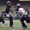 Beck Diefenbach  -  bdiefenbach@daily-chronicle.com<br /> <br /> Northern Illinois' Ryan Morris (15) and John Kremer (22) during practice at NIU's Huskie Stadium in DeKalb, Ill., on Tuesday March 24, 2009.