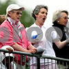 Rob Winner rwinner@shawsuburban.com<br /> European fans including Sally Bourner, of Birmingham, England, show their support during the opening round of the Solheim Cup on Friday.<br /> 08/21/2009<br /> Sally is the woman in white