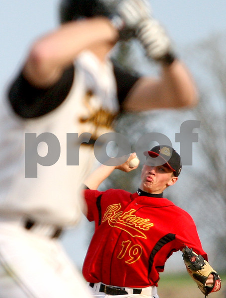 Rob Winner – rwinner@kcchronicle.com<br /> Batavia's Adam Karger delivers a pitch during Friday night's game against Sycamore.<br /> 04/24/2009