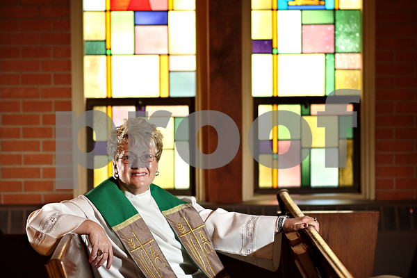 Beck Diefenbach  -  bdiefenbach@daily-chronicle.com<br /> <br /> Sandy Graber is the new pastor at Waterman Presbyterian Church in Waterman Ill.