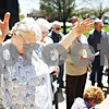 "Beck Diefenbach  -  bdiefenbach@daily-chronicle.com<br /> <br /> Marge Beyer, of DeKalb, takes part in National Day of Prayer outside the DeKalb County Courthouse  in Sycamore, Ill., on Thursday May 7, 2009. ""I just think this is so important for us,"" Beyer said."