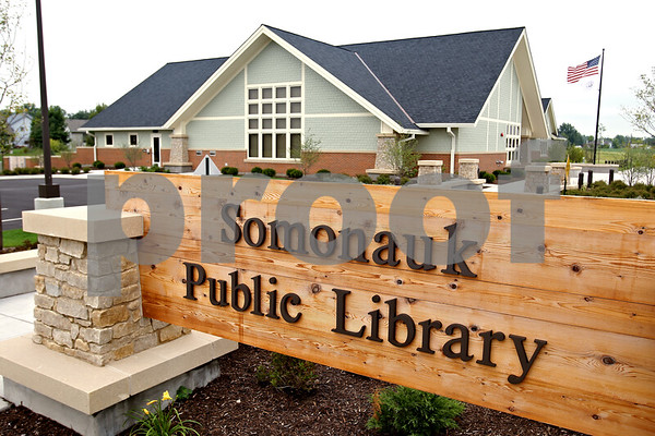 Beck Diefenbach  -  bdiefenbach@daily-chronicle.com<br /> <br /> The new Somonauk Public Library in Somonauk, Ill., on Thursday Aug. 27, 2009.
