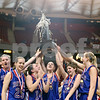 Beck Diefenbach – bdiefenbach@daily-chronicle.com<br /> <br /> The Hinckley-Big Rock girls basketball team celebrate their win over Winchester West Central High School in the Class 1A IHSA State Championships at the Red Bird Arena in Normal, Ill., on Saturday Feb. 28, 2009.