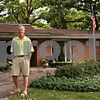 Beck Diefenbach  -  bdiefenbach@daily-chronicle.com<br /> <br /> DeKalb native and NBC Sports golf analyst Mark Rolfing in front of his childhood home on Lawnwood Avenue in DeKalb, Ill., on Tuesday Aug. 17, 2009. Rolfing lived in the house when his father died in a plane crash on Nov. 29, 1960. Rolfing will be announcing at this week's Solheim Cup.