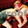 Beck Diefenbach  -  bdiefenbach@daily-chronicle.com<br /> <br /> Northern Illinois' Bryan O'Connor grapples with Ohio's Tommy Weinkam during the 165 weight class of the match at the Convocation Center at NIU in DeKalb, Ill., on Thursday Jan. 15, 2009. Ohio beat NIU 23 to 22.