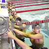 Beck Diefenbach  -  bdiefenbach@daily-chronicle.com<br /> <br /> David Gordon, of the Kishwaukee YMCA and DeKalb County Swim Team, check the clock before starting practice at the Kishwuakee YMCA in Sycamore, Ill., on Monday July 20, 2009.