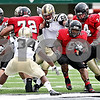 Rob Winner – rwinner@daily-chronicle.com<br /> Northern Illinois tail back Me'co Brown carries the ball in the first half. Northern Illinois went on to defeat Western Michigan 38-3 on Saturday.<br /> 10/03/2009