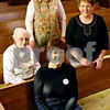 Rob Winner – rwinner@kcchronicle.com<br /> Malta United Methodist Church 150th celebration committee members Dorothy Stoddard (left), Pastor Judy Giese (back), Bev Willrett (front), and Marilyn Berg (right).<br /> 11/09/2009