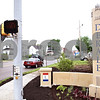 Beck Diefenbach  -  bdiefenbach@daily-chronicle.com<br /> <br /> A new Lincoln Highway marker stands at the corner of 10th Street and Lincoln Highway in DeKalb, Ill., on Monday June 1, 2009.