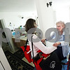 Beck Diefenbach  -  bdiefenbach@daily-chronicle.com<br /> <br /> (Right) Edith Dodds, 90, embraces Assistant Meals on Wheels Coordinator Colleen Bredeson after she delivers her hot and cold meals to Dodds apartment at Colonial House in DeKalb, Ill., on Monday May 18, 2009.