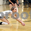 Beck Diefenbach – bdiefenbach@daily-chronicle.com<br /> <br /> Kaneland's Kylie Siebert (1) leaps for the ball during the second period of the game against DeKalb High School at Kaneland High School in Maple Park, Ill., on Saturday Sept. 19, 2009.