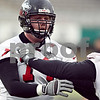 Beck Diefenbach  -  bdiefenbach@daily-chronicle.com<br /> <br /> Northern Illinois' Adam Kiel (74) during practice at NIU's Huskie Stadium in DeKalb, Ill., on Tuesday March 24, 2009.