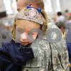 Beck Diefenbach  -  bdiefenbach@daily-chronicle.com<br /> <br /> Felicia, 5, stays close to her father David Binning, of Pecatonica, Ill., after he returned from a tour in Afghanistan at the Sycamore National Guard Armory in Sycamore, Ill., on Monday June 1, 2009.