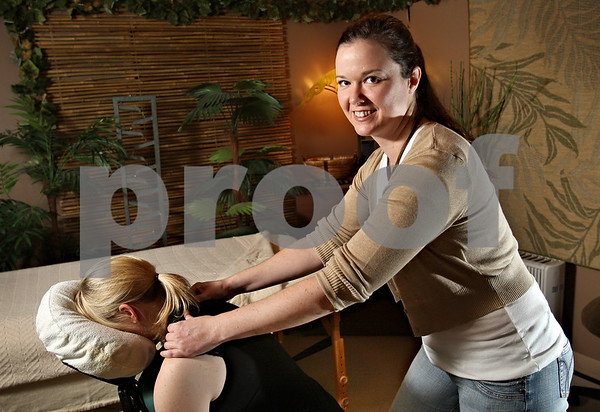 Beck Diefenbach – bdiefenbach@daily-chronicle.com<br /> <br /> Masseuse Jennifer Collins, co-owner of the Center for Integrated BodyWork (CQ), has seen an increase in first time clients.